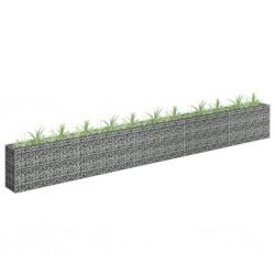 stradeXL Gabion Raised Bed Galvanised Steel 450x30x60 cm