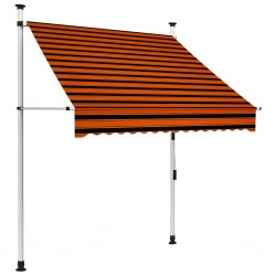 stradeXL Manual Retractable Awning 150 cm Orange and Brown