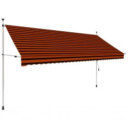 stradeXL Manual Retractable Awning 350 cm Orange and Brown
