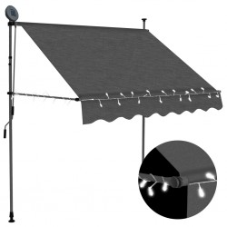 stradeXL Manual Retractable Awning with LED 200 cm Anthracite