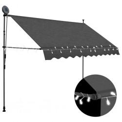stradeXL Ręcznie zwijana markiza z LED, 250 cm, antracytowa
