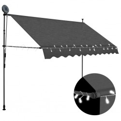 stradeXL Manual Retractable Awning with LED 300 cm Anthracite