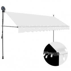 stradeXL Manual Retractable Awning with LED 350 cm Cream