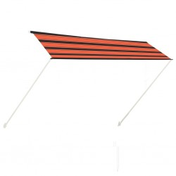stradeXL Retractable Awning 300x150 cm Orange and Brown