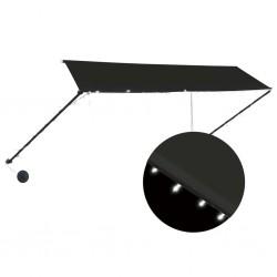 stradeXL Markiza zwijana z LED, 350 x 150 cm, antracytowa