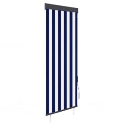 stradeXL Roleta zewnętrzna, 60x250 cm, niebiesko-biała