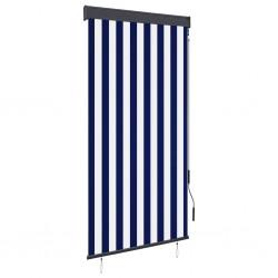 stradeXL Roleta zewnętrzna, 80x250 cm, niebiesko-biała