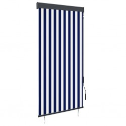stradeXL Outdoor Roller Blind 100x250 cm Blue and White