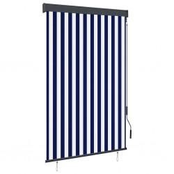 stradeXL Roleta zewnętrzna, 120x250 cm, niebiesko-biała