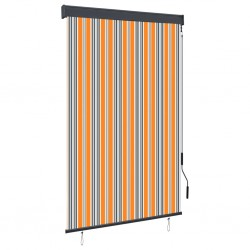stradeXL Outdoor Roller Blind 120x250 cm Yellow and Blue