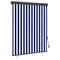 stradeXL Outdoor Roller Blind 140x250 cm Blue and White