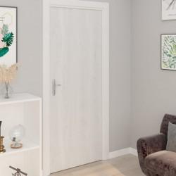 stradeXL Okleina samoprzylepna na drzwi 2 szt białe drewno 210x90 cm PVC