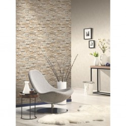 stradeXL 4 pcs Non-woven Wallpaper Rolls Brown and Grey 0.53x10 m Brick