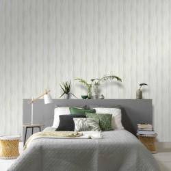 stradeXL Fizelinowa tapeta, 4 rolki, biała, 0,53 x 10 m, wzór fal