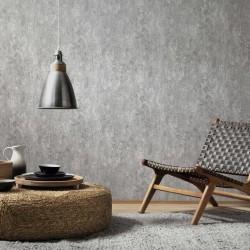 stradeXL Fizelinowa tapeta, 4 rolki, szary beton, 0,53 x 10 m