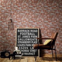 stradeXL Fizelonowa tapeta, 4 rolki, brązowo-czerwona, 0,53x10 m, cegły