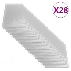 stradeXL Płyty poliwęglanowe, 28 szt., 4 mm, 121x60 cm