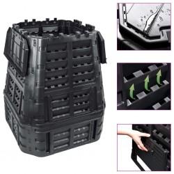 stradeXL Garden Composter Black 93.3x93.3x113 cm 740 L