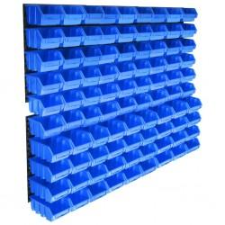 stradeXL 96-częściowy organizer na panelach ściennych, niebieski