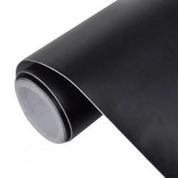 Naklejka samochodowa mat czarny 200 x 152 cm folia samorzylepna