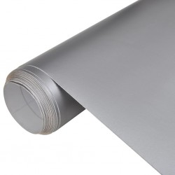 Naklejka samochodowa mat srebrny 152 x 200 cm