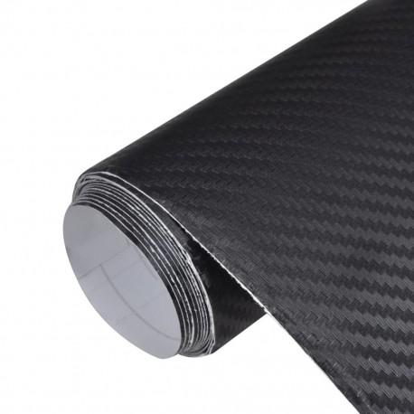 Naklejka samochodowa winyl/carbon 3D Czarna 152 x 200 cm