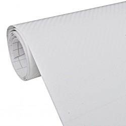 Carbon Fiber Vinyl Car Film 3D White 152 x 200 cm