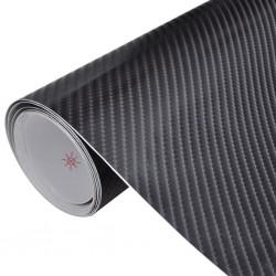 Naklejka samochodowa winyl/carbon 4D czarna 152 x 200 cm