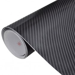 Carbon Fiber Vinyl Car Film 4D Black 152 x 500 cm
