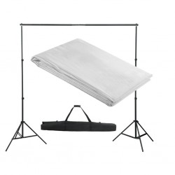 stradeXL Backdrop Support System 300 x 300 cm White