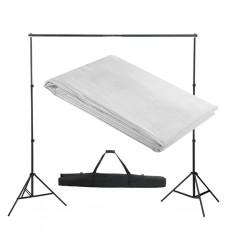 stradeXL System zawieszenia tła z białym tłem 300 x 300 cm