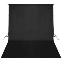 stradeXL System zawieszenia tła z czarnym tłem 500 x 300 cm
