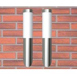 Lampy ze stali nierdzewnej Wodoodporne 6x36 cm Do ogrodu x2