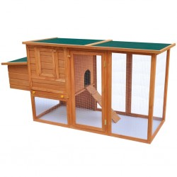 stradeXL Outdoor Chicken Cage Hen House with 1 Egg Cage Wood