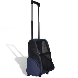 stradeXL Składany wózek dla zwierząt, niebieski