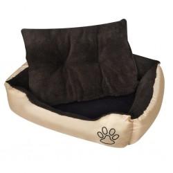 Ciepłe legowisko dla psa z poduszką, rozmiar XL