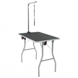 Portable Dog Grooming Table with Castors