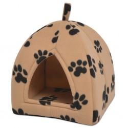 stradeXL Domek dla kota, rozmiar L, beżowy