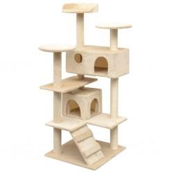 stradeXL Cat Tree with Sisal Scratching Posts 125 cm Beige