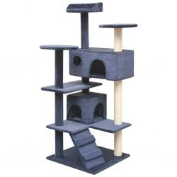 stradeXL Drapak dla kota z sizalowymi słupkami, 125 cm, granatowy
