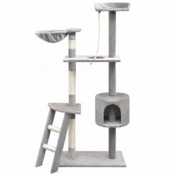 stradeXL Drapak dla kota z słupkami do drapania, 150 cm, kolor szary