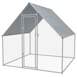 stradeXL Klatka zewnętrzna dla kurcząt, stal galwanizowana, 2x2x1,92 m