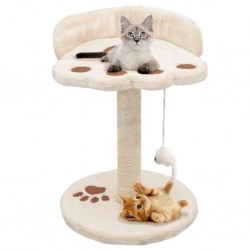 stradeXL Drapak dla kota z sizalowym słupkiem, 40 cm, beżowo-brązowy