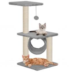 stradeXL Drapak dla kota z sizalowymi słupkami, 65 cm, szary