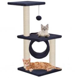 stradeXL Drapak dla kota z słupkami sizalowymi, 65 cm, granatowy