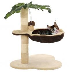 stradeXL Drapak dla kota ze słupkiem sizalowym, 50 cm, beżowo-brązowy