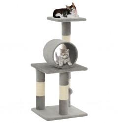 stradeXL Cat Tree with Sisal Scratching Posts 65 cm Grey