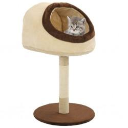 stradeXL Drapak dla kota ze słupkami sizalowymi, 72 cm, beżowo-brązowy