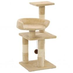 stradeXL Drapak dla kota ze słupkami sizalowymi, 65 cm, beżowy