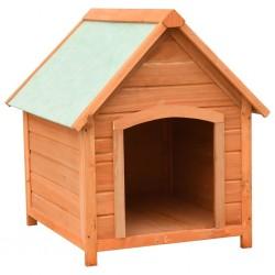 stradeXL Buda dla psa, drewno sosnowe i jodłowe, 72x85x82 cm